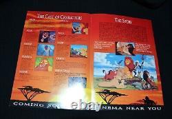 Disney The Lion King Original Promotional Movie Flyers X 16 Vintage 1994 Rare