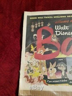 Disney Vintage Bambi Poster 1948