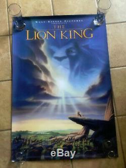 Disney's Le Lion King 1994 - Affiche De Film 27x40 Authentique Ds Ds Enroulée