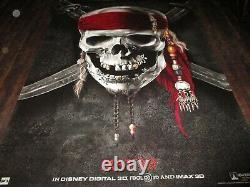 Disney's Pirates Of The Caribbean 3 Et Mars A Besoin De Mon Énorme Affiche Vinyle Énorme