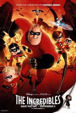 Disney's Pixar Incredibles 2004 Original Ds 2 Faces 27x40 Us Affiche De Film Mint
