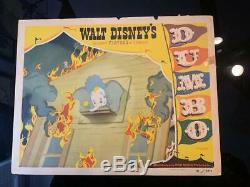 Dumbo Disney Originale Carte Hall 1941 -meilleur Carte / Scène D'incendie