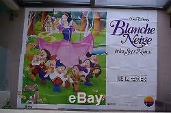 Énorme Rare 160 X 120 Blanc Neige Walt Disney Panneau D'affichage Panneau 8