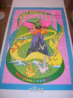 Fantasia 1970 Disney Re-release Original Authentique 27x41 Affiches De Cinema (468)