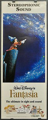 Fantasia R / 1977 Orig 14x36 Affiche Du Film Mickey Mouse Walt Disney