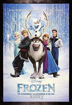 Frozen Cinemasterpieces Original Affiche De Film 2013 Ds Nm-m Disney Princess Ice