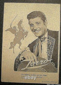 Guy Williamsas Zorro (zorro) Signez La Carte Autographe Et La Carte Promo Disney Vintage