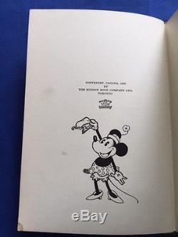 Histoires De Films De Mickey Mouse Première Édition Canadienne 1932 Walt Disney
