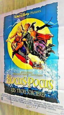 Hocus Pocus Walt Disney Vintage Français Grande Movie Poster 47x63 Midler Najimy
