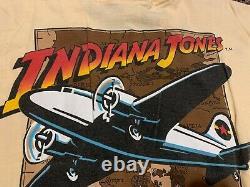 Indiana Jones La Légende Rare T-shirt Vintage Officiel 1989 80 Medium Disney