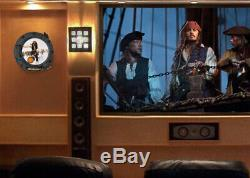 Johnny Depp Signé Pirates De La Caraibe, Pièce Disney Prop, Hublot Coa DVD Uacc