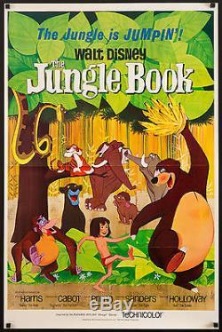 Jungle Book 1967 Us 1 Affiche Feuille Tri-fold Exc. Cond. Walt Disney Filmartgallery
