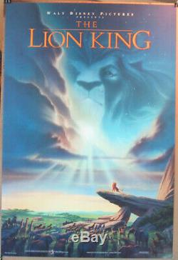 L'affiche De Film De Lion King Original Ds 27x40 N. Mint! Disney Animation 1994