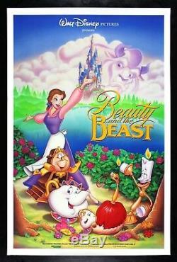 La Bête Et Beaute Cinemasterpieces Original Ds Disney Film Affiche 1991