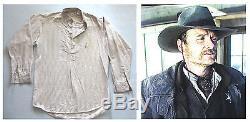 La Lone Ranger Cowboy Shirt Screen Costume De Costume De Production Usé Usé Disney