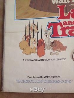 Lady And The Tramp Original Une Feuille De Film Affiche 1980 Disney