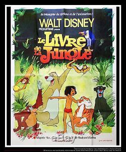 Le Livre De La Jungle Walt Disney 4x6 Ft Vintage Français Grande Affiche De Film 1968