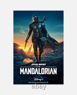 Le Mandalorian Original 27x40 Affiche Une Feuille Rare Star Wars Officiel Disney