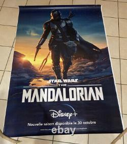 Le Mandaloriens Star Wars Poster 4x6 Double Face Française Exclusive Disney +
