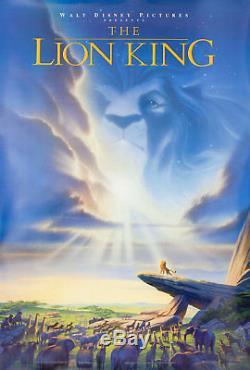 Le Roi Lion 1994 U. S. Affiche D'une Feuille