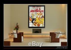 Les Aristocats Walt Disney Affiche Du Film Grande Française De 4x6 Ft Original 1970