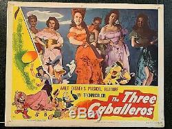 Les Trois Caballeros De 1944 De Walt Disney, Une Carte Originale Du Film D'animation, Une Comédie Musicale