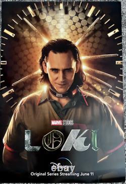 Loki Original 27x40 D/ S Movie Poster Marvel Disney Plus Tom Hiddleston New Rare