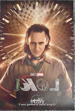 Loki Original 27x40 D/s Movie Poster Marvel Disney Plus Tom Hiddleston Nouvelle Promo
