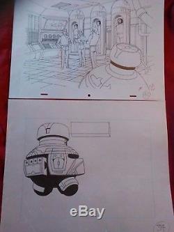 Lot De 16 Animation De Production De Trou Noir Art Disney Studios-vintage Originals