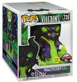 Maléfique Que Le Dragon Gitd Brille Dans L'obscurité Pop! Disney #720 Figur Funko