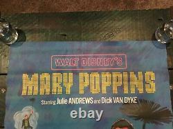 Mary Poppins Ensemble De 2 Affiches Julie Andrews Walt Disney Rare 1964 Shasta Bev