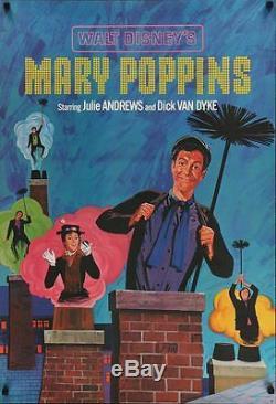 Mary Poppins Ensemble De 3 Posters Shasta Julie Andrews Walt Disney Très Rare 1964