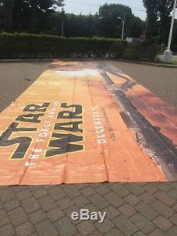 Massive Vinyle Star Wars Movie Banner Réalisé Pour Walt Disney 14'x48 'faites Offre Maintenant