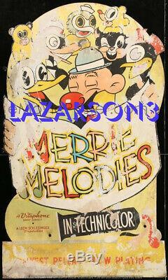 Merrie Melodies Rare Large Bugs Standee Bunny Elmer Fudd Du Début Des Années 1930