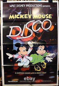 Mickey Disco Originale 1980 Affiche Du Film Walt Disney Very Fine