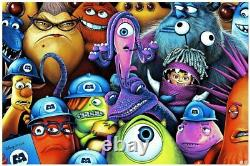 Monsters Inc Mondo Poster Print Par Sara Deck Vendu À La Main Disney Pixar