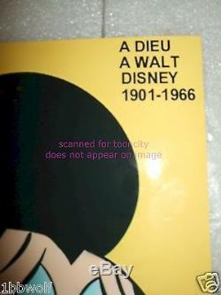 Mort De Walt Disney Pleurant Mickey Mouse Paris Match Nouveau 8x10 Pouces Sans Voix