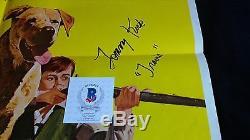 Old Yeller Original R79 Affiche De Film 27x41 Signé Par Tommy Kirk Avec Coa #disney