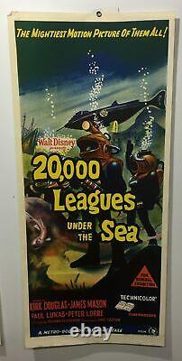 Original Daybill Movie Poster Disney 20,000 Leagues Under Sea Douglas Mason