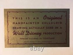 Original Walt Disney Donald Duck Celluloid Drawing Années 1960