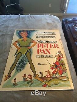 Peter Pan Affiche Du Film 30x40 Pouces Animation Disney