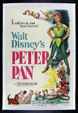Peter Pan Cinemasterpieces Poster Poster Original Original 1953 Disney