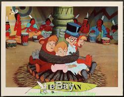 Peter Pan Lobby Card Lot De 9 Affiche De Film Disney 11x14 Pouces R1978 N. Mint