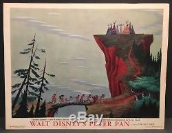 Peter Pan Original 1953 Movie Lobby Cartes Disney Captain Hook Et Wendy