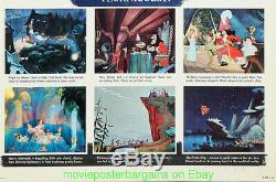 Peter Pan Poster Film Poster Réédition 1958 Insert Size 14x36 Inch Disney Animation