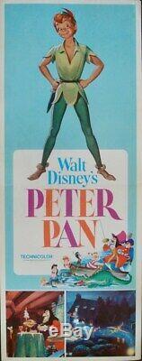 Peter Pan Us Insert Film Affiche 14x36 R69 Walt Disney