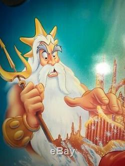 Petite Sirène Ss 27x41 Théâtrale Originale Une Feuille Disney 1989