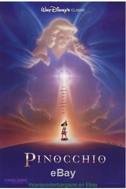 Pinocchio Affiches De Cinema Ds Disney Animation R92 Dédicacée Par L'artiste John Alvin