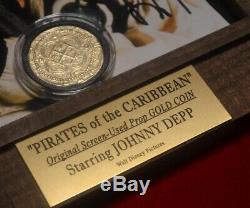 Pirates Des Caraibes Disney Coin Prop, Dvd, Depp Johnny Signed, Coa Disney