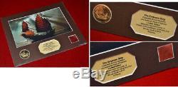 Pirates Des Caraibes Disney Coin Prop, Dvd, Depp Johnny Signed, Disney Coa